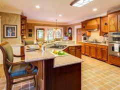 wooden, интерьер, kitchen