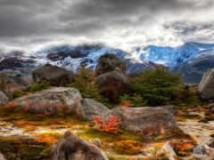 горы, аргентина, clouds