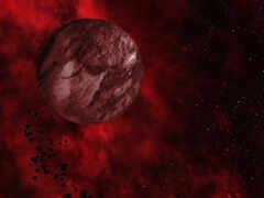 космос, planet, red