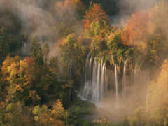 водопад, nat, осенние