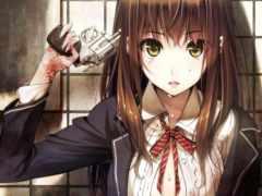 кровь, девушка, anime
