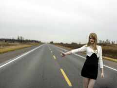 дороге, женская, фотосессия