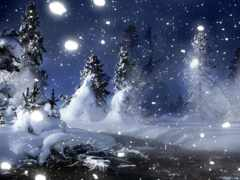 winter, ночь, снег