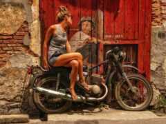 мотоцикл, ко, sepeda