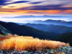 вид, горы, красивый