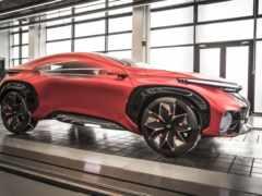 автомобиль концепт красный