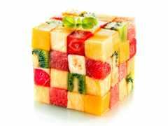 кубик, фрукты, фруктов