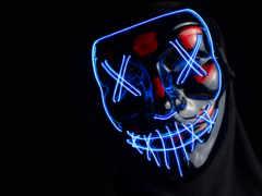 маска, neon, anonymous