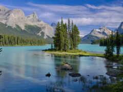 остров, озеро, природа