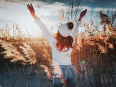 девушка, people in nature, природа, радость