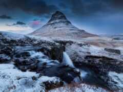 kirkjufell, гора, iceland
