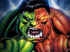 hulk, red, зелёный