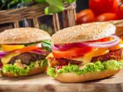 гамбургер, быстрое питание