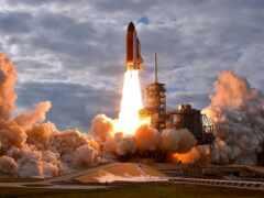 launch, космос, into