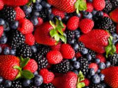 клубника, ягода, малина