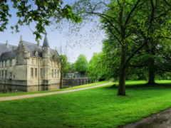 города, бельгия, замки