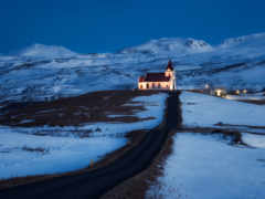 исландия, снег, горы