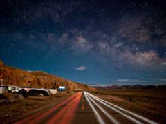 дорога, ночь, ночная