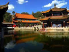 храм, china, kunming