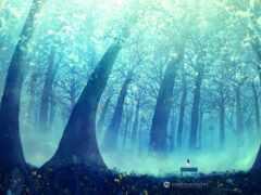 лес, anim, природа