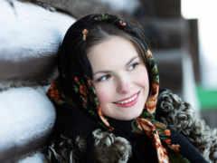 devushki, девушка, платок