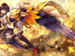 anime, крыло, демон