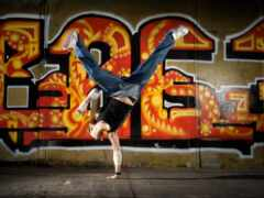 portable, dance, graffito