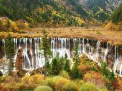 cascadas, coloridas, del