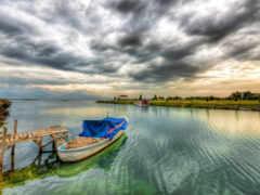 корабль, лодка, природа