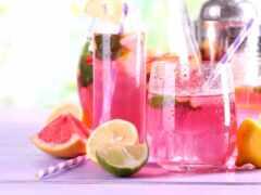 lemonade, розовый, напиток
