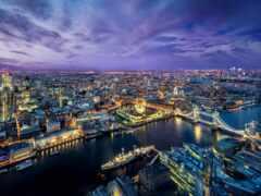 london, город, река
