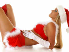 санта, девушка, christmas