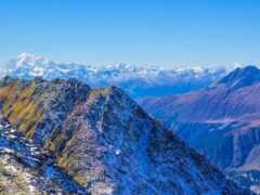 гора, swiss, альпы