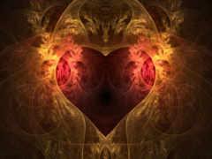 красивые, сердца, фракталы