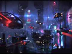 cyberpunk, машина, art