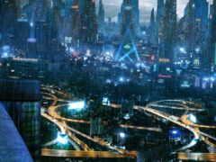 cyberpunk, город, pinterest