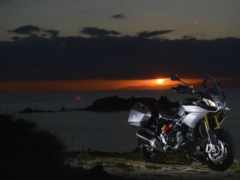 мотоцикл, красивый, закат