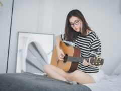 девушка, картинка, музыка