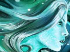 profile, девушка, волосы