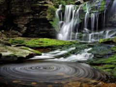 природа, park, водопад