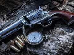 revolver, пистолет