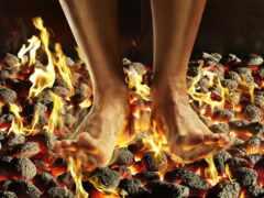 leg, burn