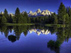 горы, панорамный