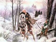 fantasy, воин, коне