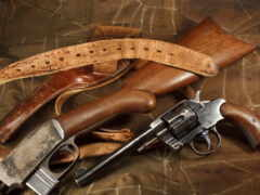 pistol, винтовка, revolver