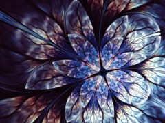 абстракция, цветы, ноутбук
