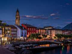 ascona, город, озеро