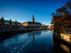 Denmark, christiansborg , вода, небо