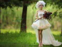 платье, short, свадебный