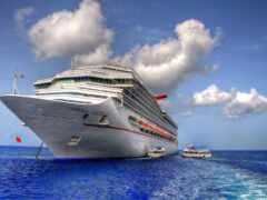 корабль, лайнер, море